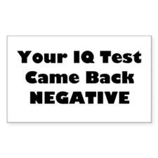 Negative IQ Rectangle Decal
