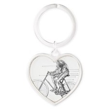 Muscles used in cycling, 19th centu Heart Keychain