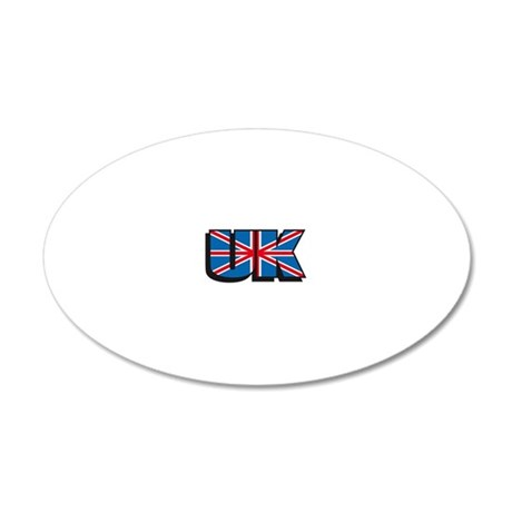 united kingdom flag 20x12 Oval Wall Decal