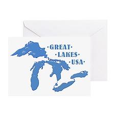 GREAT LAKES USA Greeting Card
