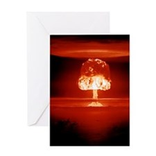 Hydrogen bomb explosion Greeting Card
