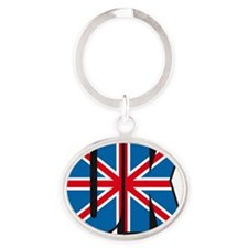 united kingdom flag Oval Keychain