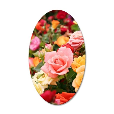 Roses 35x21 Oval Wall Decal