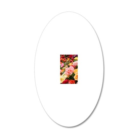 Roses 20x12 Oval Wall Decal