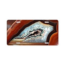 Slice of agate Aluminum License Plate