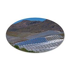 Solar power plant, Cala San  35x21 Oval Wall Decal