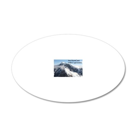 Soar beyond your wildest exp 20x12 Oval Wall Decal