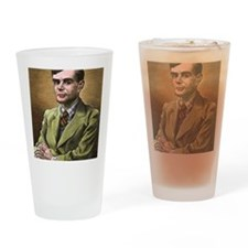 Alan Turing, British mathematician Drinking Glass