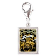 Antique clock Silver Portrait Charm