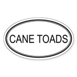Oval Design: CANE TOADS Oval Decal