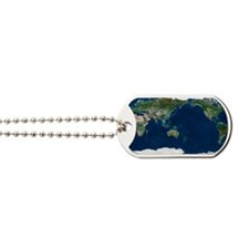 Whole Earth, satellite image Dog Tags