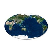 Whole Earth, satellite image Wall Decal