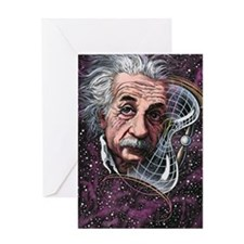 Albert Einstein, German physicist Greeting Card