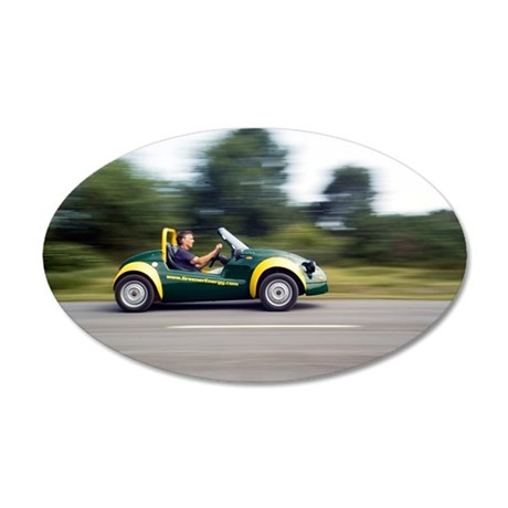 Jester electric car 35x21 Oval Wall Decal