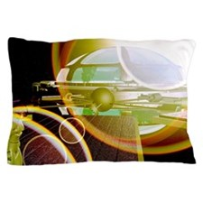 Interstellar spaceship Pillow Case