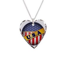 round flag USA Necklace