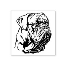 "Dogue De Bordeaux. Square Sticker 3"" x 3"""