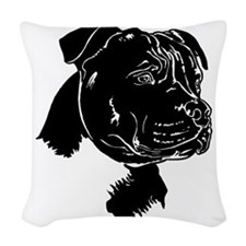 Staffordshire Bull Terrier Woven Throw Pillow