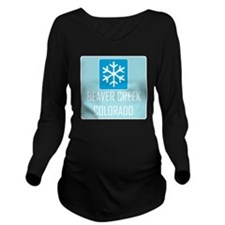 Beaver Creek Snowfla Long Sleeve Maternity T-Shirt
