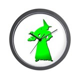 Green Witch Wall Clock