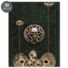 Green Book with Skulls Puzzle