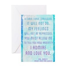 Darcy Quote Greeting Card