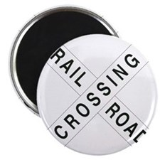 Rail Road Crossbucks Sign Magnet