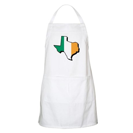 Irish Flag Texas State BBQ Apron