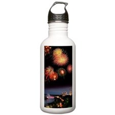 Fireworks display over Water Bottle