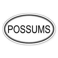 Oval Design: POSSUMS Oval Decal