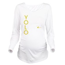 YOLO Lime Long Sleeve Maternity T-Shirt