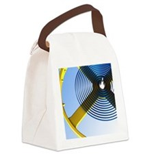 Balance wheel of a watch, artwork Canvas Lunch Bag
