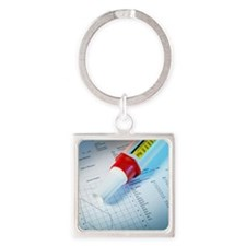 Lung function test Square Keychain