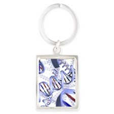 DNA helices Portrait Keychain