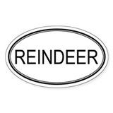 Oval Design: REINDEER Oval Decal