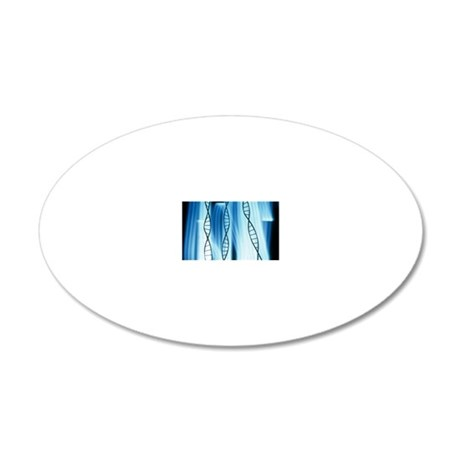 DNA helices 20x12 Oval Wall Decal