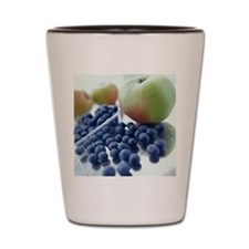 Apples and blueberries Shot Glass