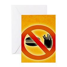 No fast food sign Greeting Card