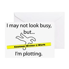 Beware: Plotting Writer Greeting Card