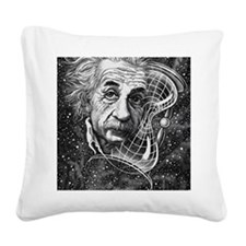 Albert Einstein, German physi Square Canvas Pillow