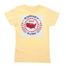 Romney Ryan 2012 Button Girl's Tee