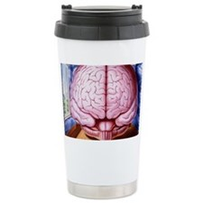 Artwork of human brain enclosed Ceramic Travel Mug