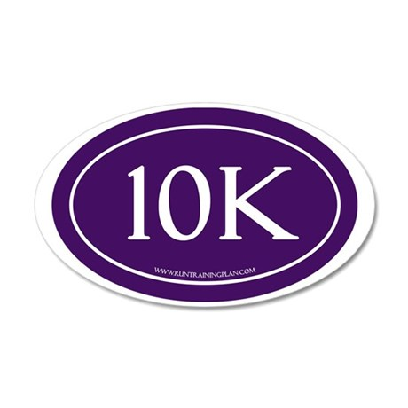 10K Run Achievement 35x21 Oval Wall Decal