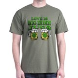 Love is Big Irish Jugs T-Shirt