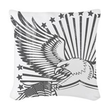 Eagle 1 Woven Throw Pillow