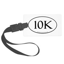 10K Running Achievement White Luggage Tag