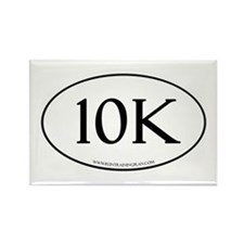 10K Running Achievement White Rectangle Magnet