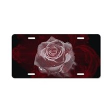 Fantasy Rose Aluminum License Plate