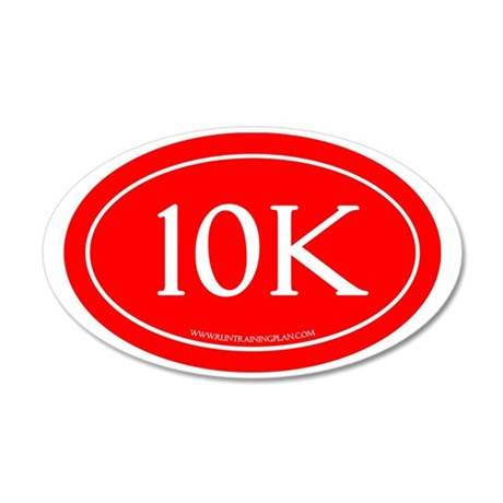 10K Running Achievement Red 35x21 Oval Wall Decal