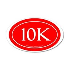 10K Running Achievement Red Wall Decal